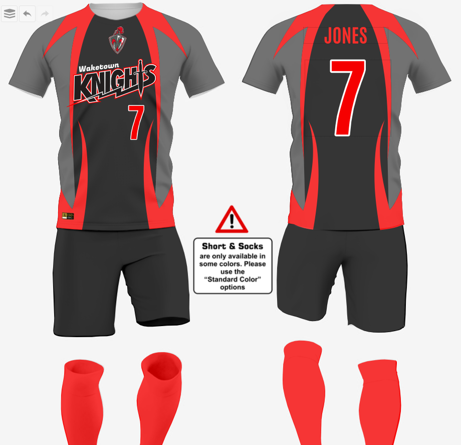 Customize soccer uniforms