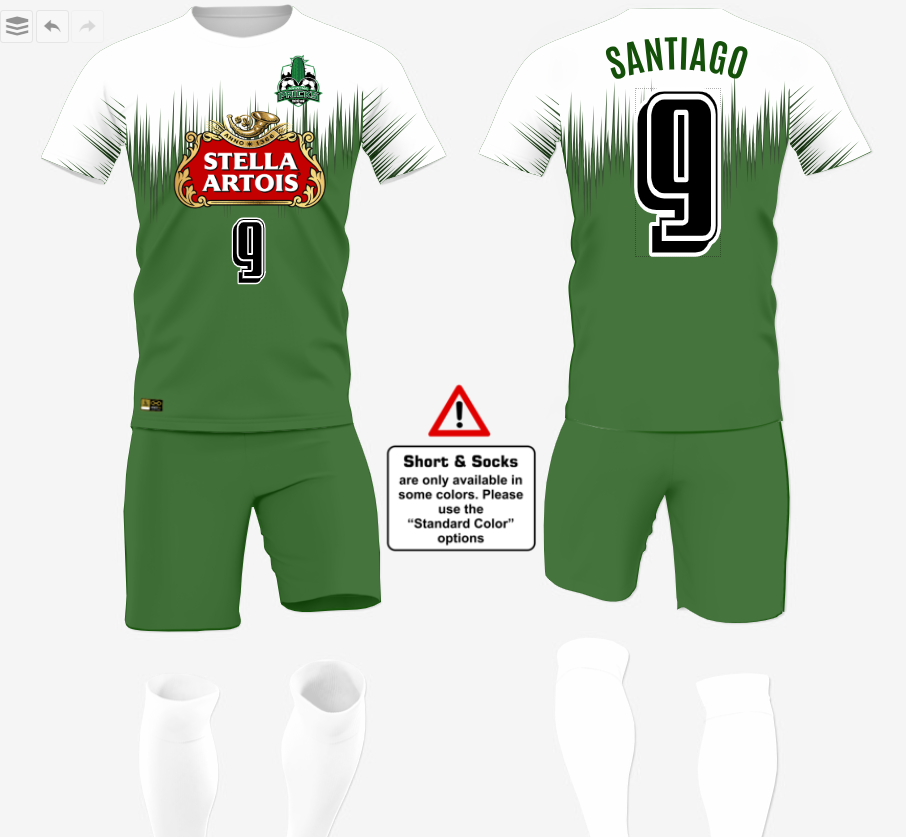Create your own soccer uniforms