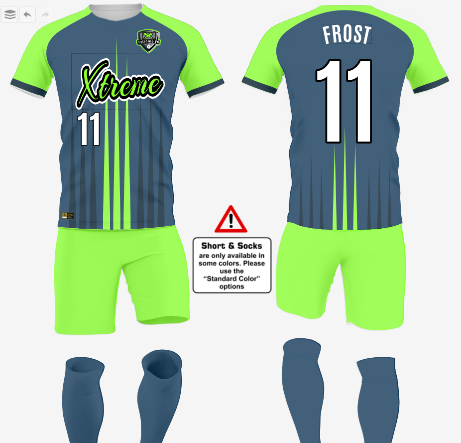 soccer uniform idea samples
