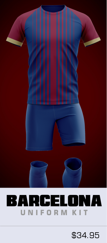 barcelona custom soccer uniform