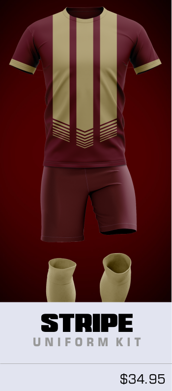 Stripe Customizable Soccer Uniform