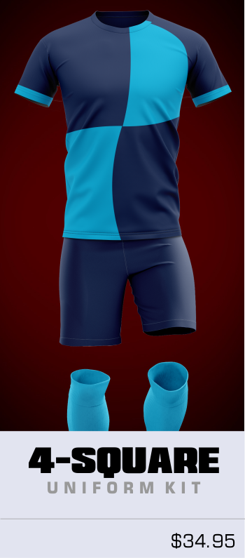 4 Square Customizable Soccer Uniform