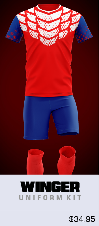 Winger Customizable Soccer Uniform